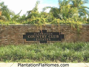 Country Club Estates in Plantation Florida